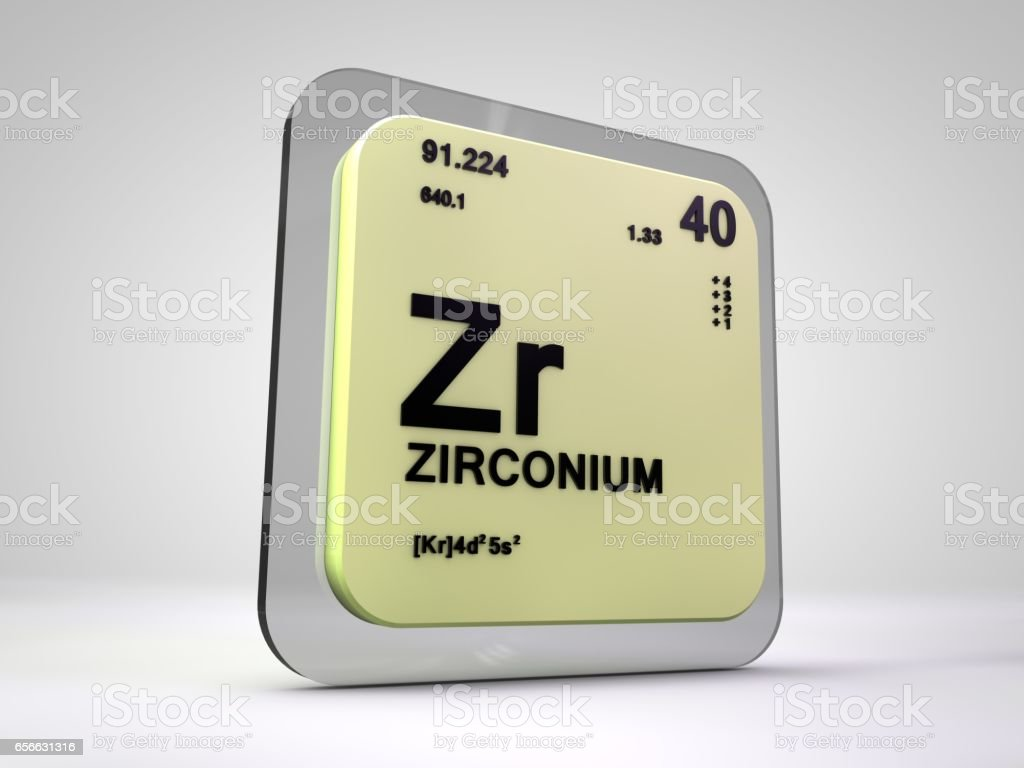 Zirconium zr chemical element periodic table 3d render stock laboratory liquid number symbol italy zirconium zr chemical element periodic table gamestrikefo Images