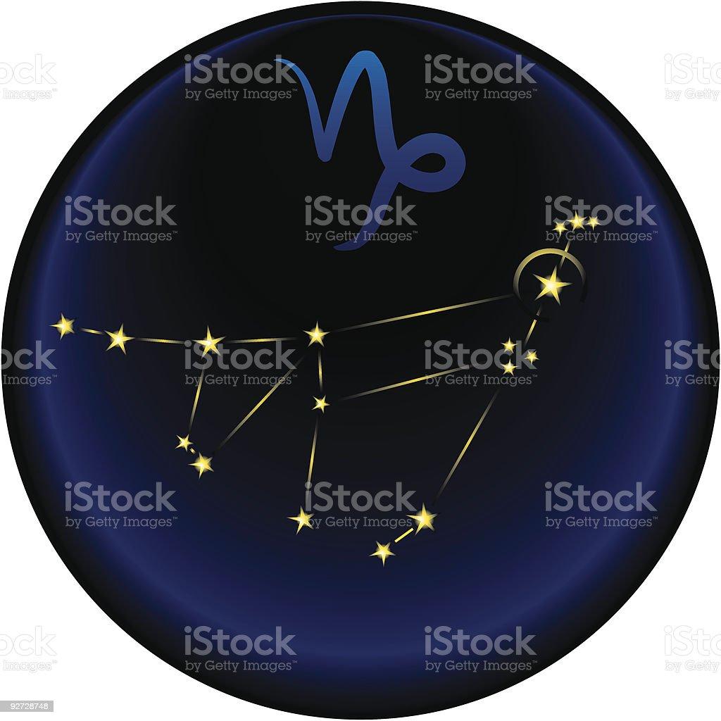 zodiac Capricorn sign royalty-free stock vector art