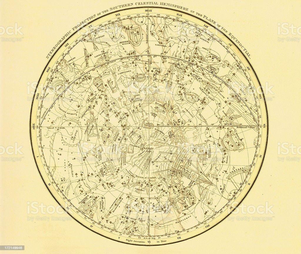 Zodiac Map vector art illustration