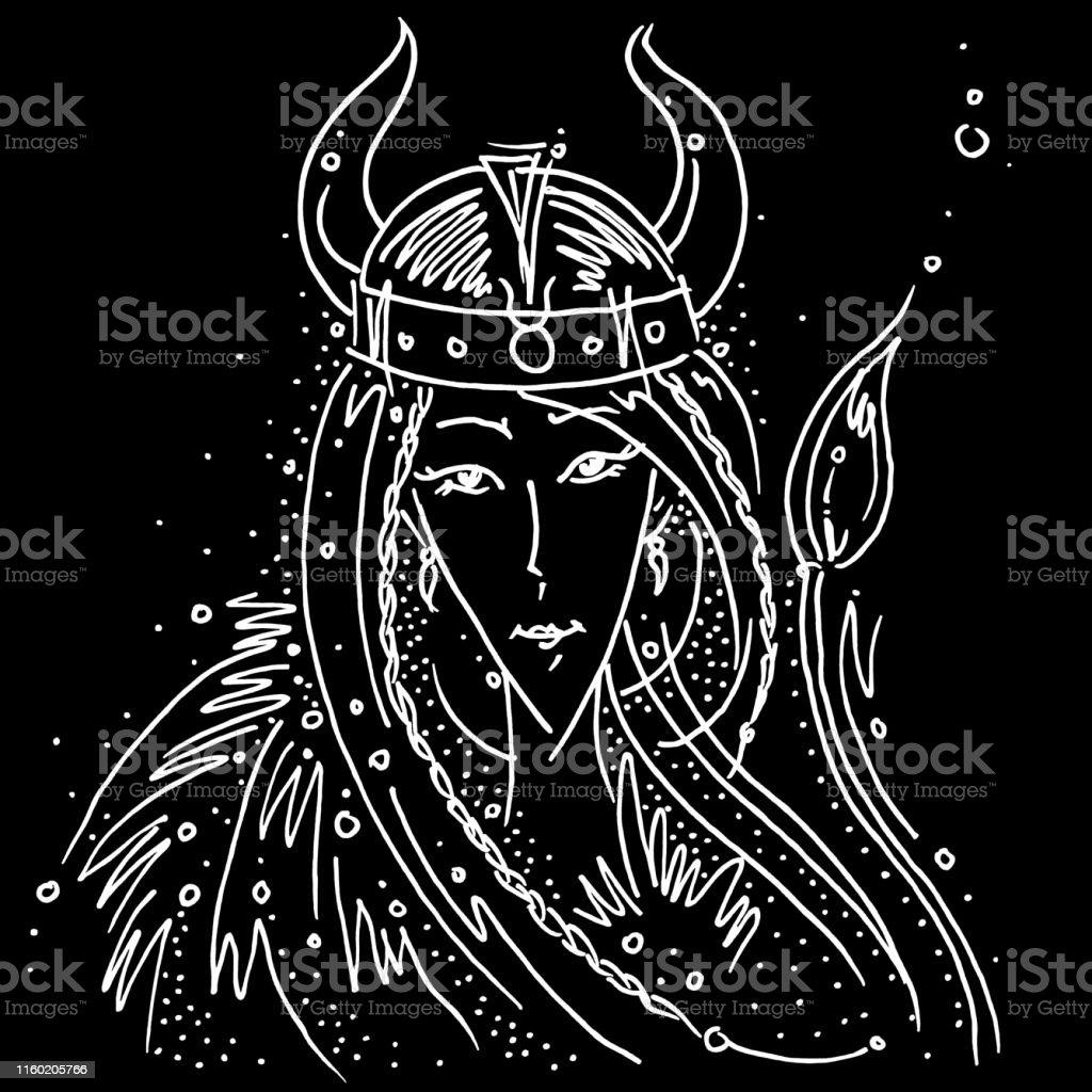 Casque De Signe Taurus Noir Et Blanc Dessin Viking Casque De