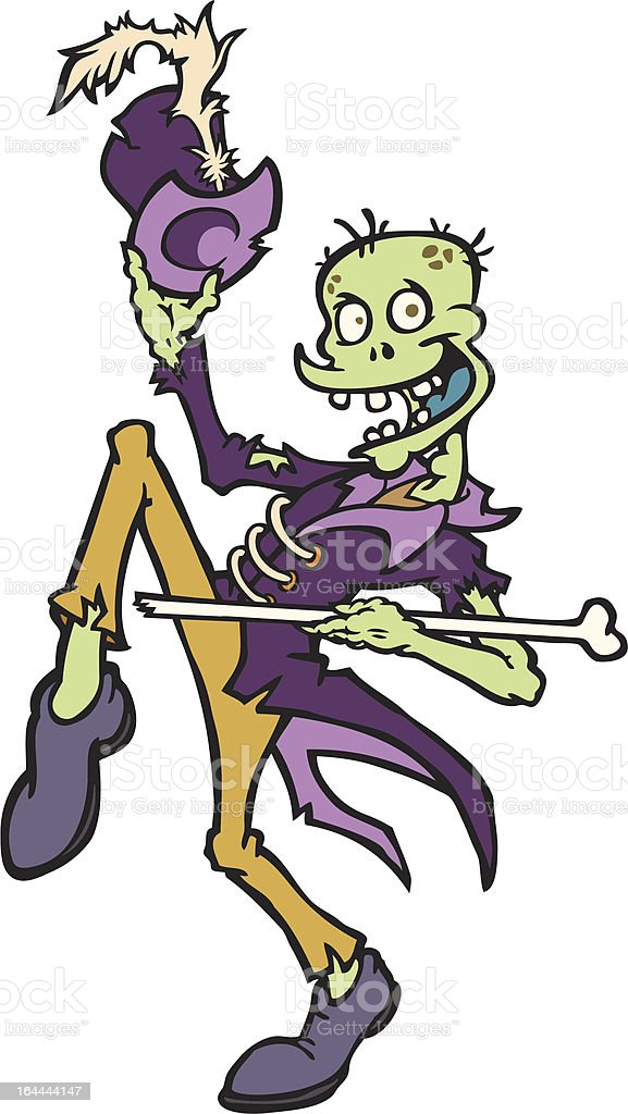 Zombie Grand Marshal vector art illustration