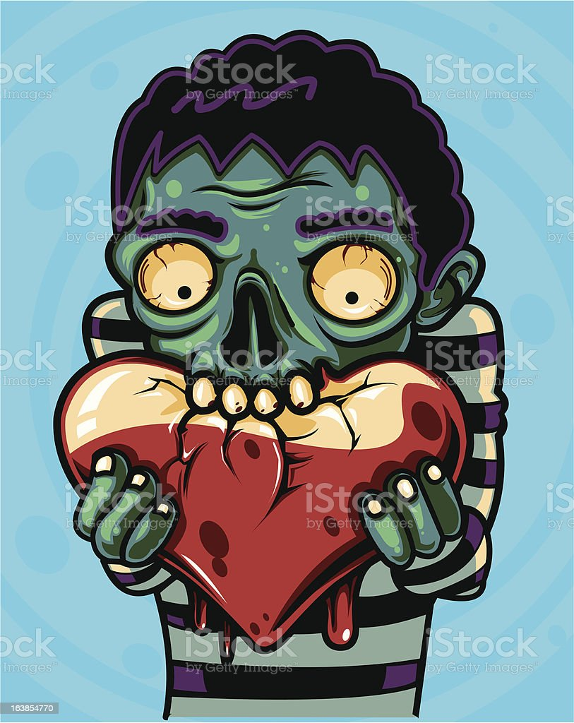 Zombie Loves You - Royalty-free Backgrounds stock vector