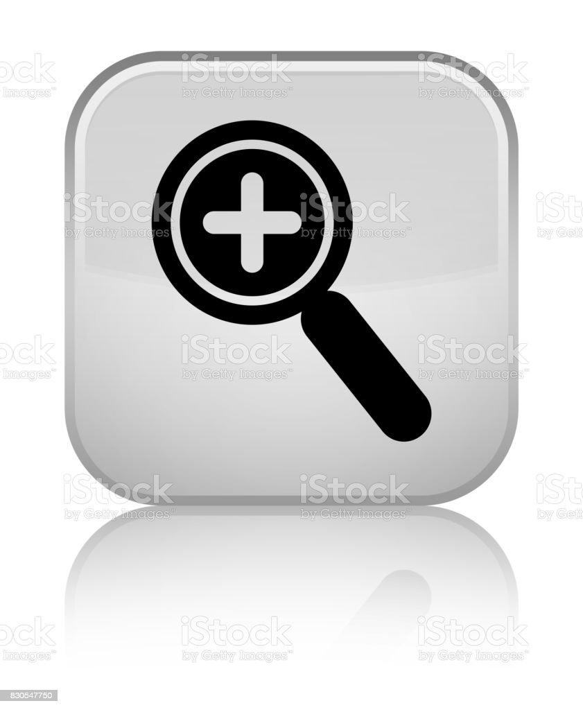 Zoom In Icon Special White Square Button Stock Illustration