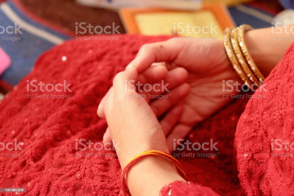 RESTING HANDS stock photo