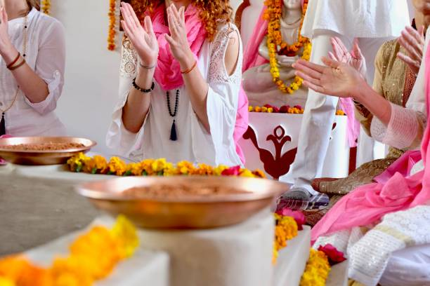 KIRTAN CLAPPING stock photo