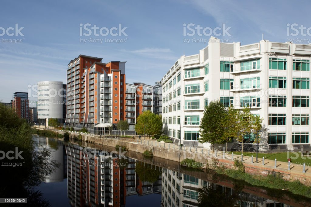 Office And Apartment Building In Leeds City Centre Stock Photo