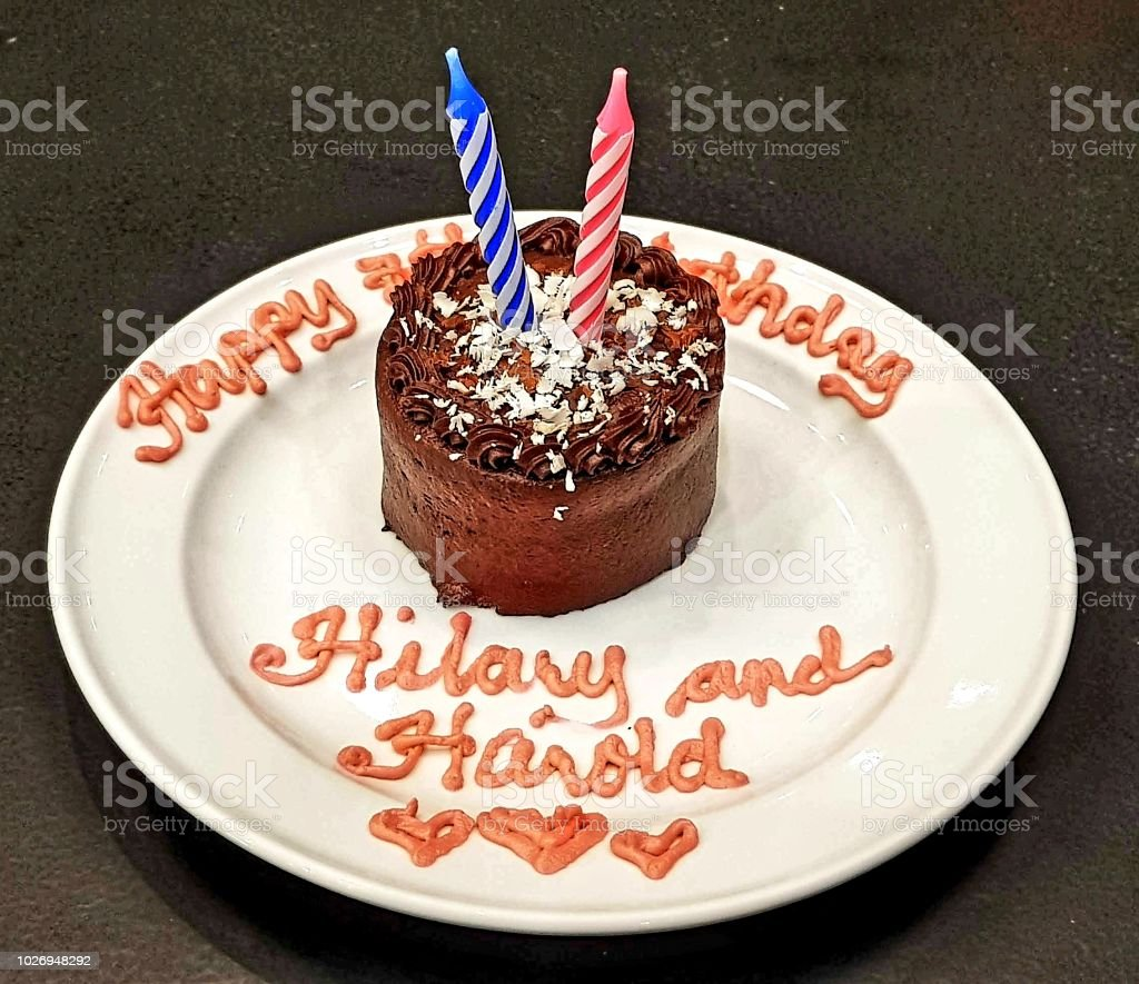 Twins Mini Birthday Cake Stock Photo More Pictures Of Baked Istock