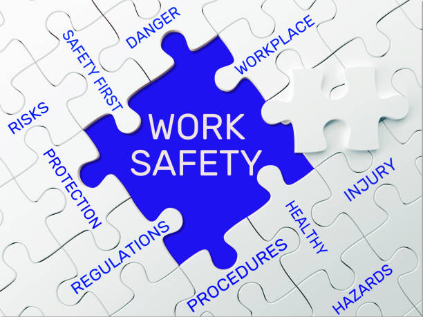 arbetarskydd - pussel koncept - arbetssäkerhet bildbanksfoton och bilder