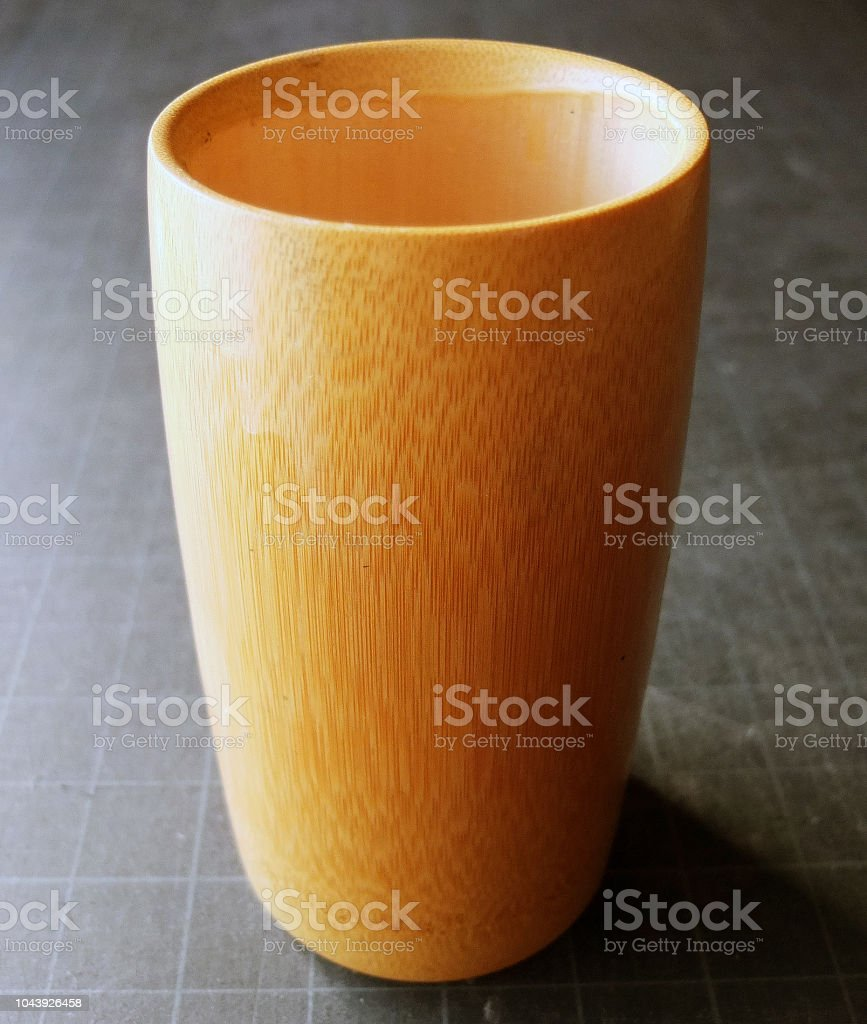 SIMPLE BAMBOO VASE stock photo