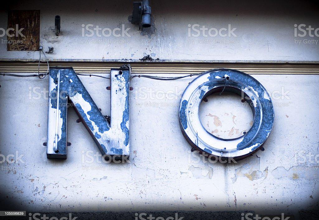 NO! royalty-free stock photo