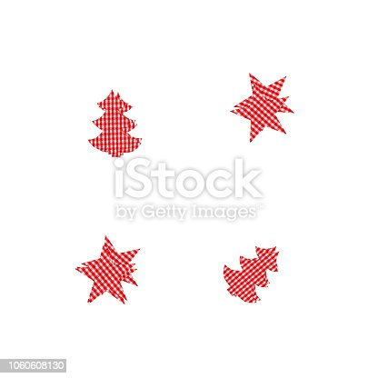 istock CHRISTMAS TREE AND STARS . 3D RENDER. 1060608130