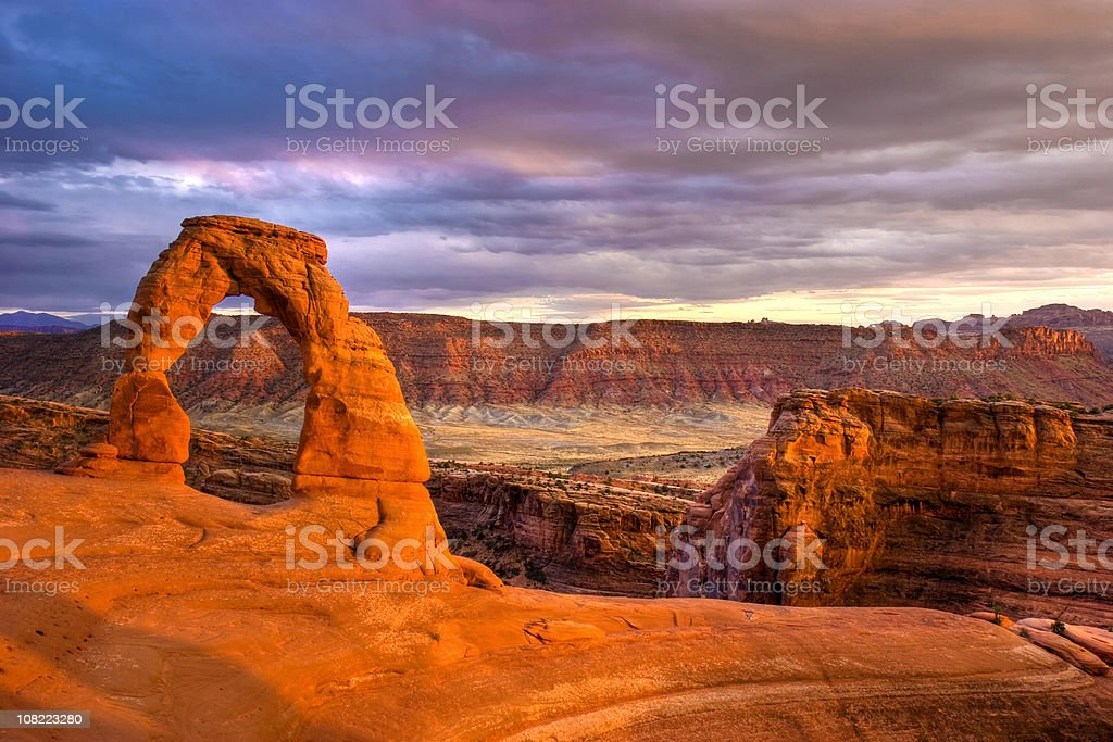 DELICATE ARCH royalty-free stock photo