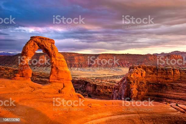 Delicate Arch Stockfoto en meer beelden van Afgelegen