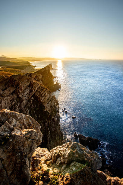 COSTA QUEBRADA - CANTABRIA LANDSCAPE FROM SPAIN cantabria stock pictures, royalty-free photos & images