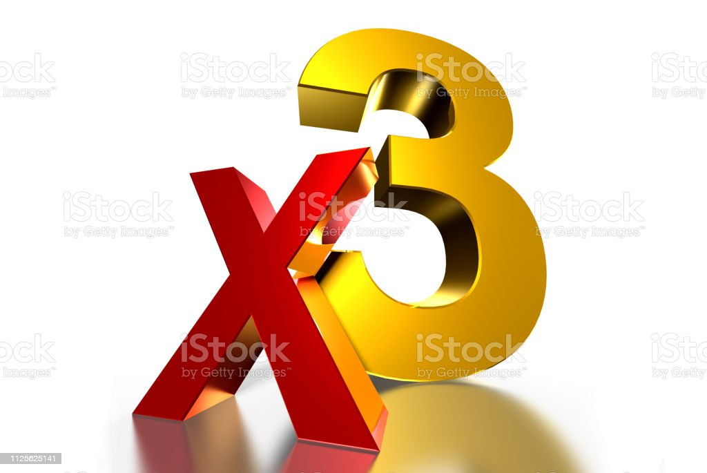 X3 3D. - foto de stock