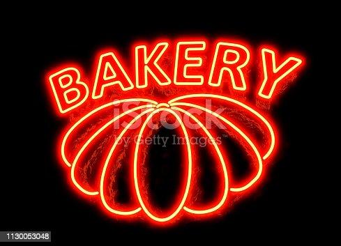 istock NEON BAKERY SIGN 1130053048