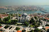 A view of Suleymaniye Mosque in Istanbul, Turkey.