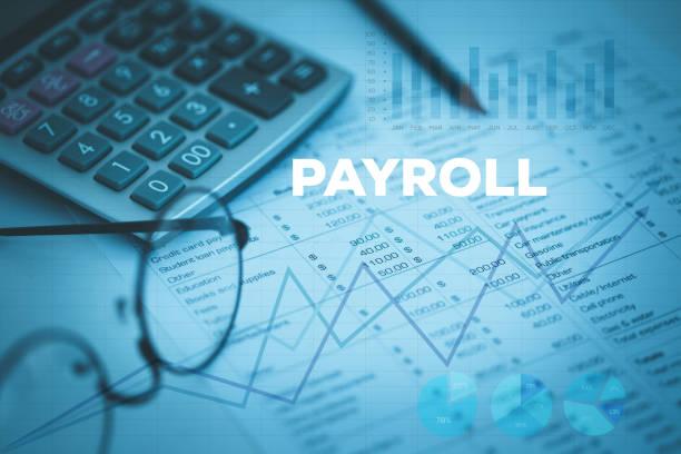 payroll concept - gehaltsstreifen stock-fotos und bilder