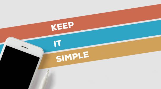 keep it simple concept - sprüche ehrlichkeit stock-fotos und bilder