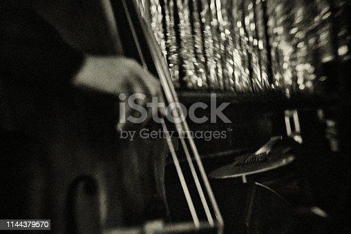 Nightclub, Jazz, chanson, vintage, double bass