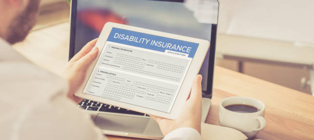 DISABILITY INSURANCE CONCEPT stock photo