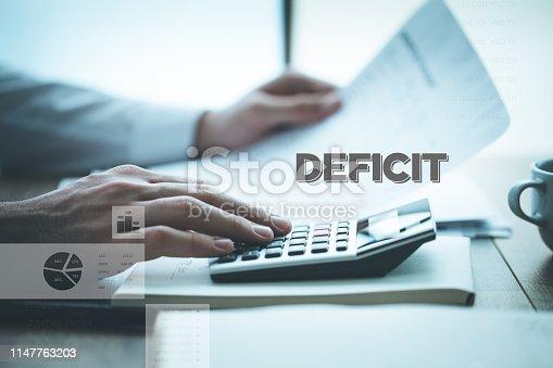 istock DEFICIT CONCEPT 1147763203