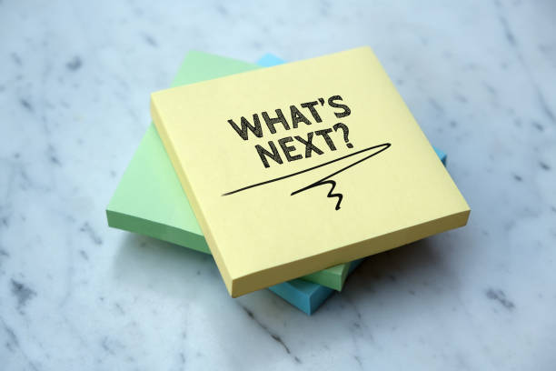 WHAT'S NEXT? WHAT'S NEXT? ambiguity stock pictures, royalty-free photos & images