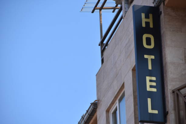 HOTEL- SIGN stock photo