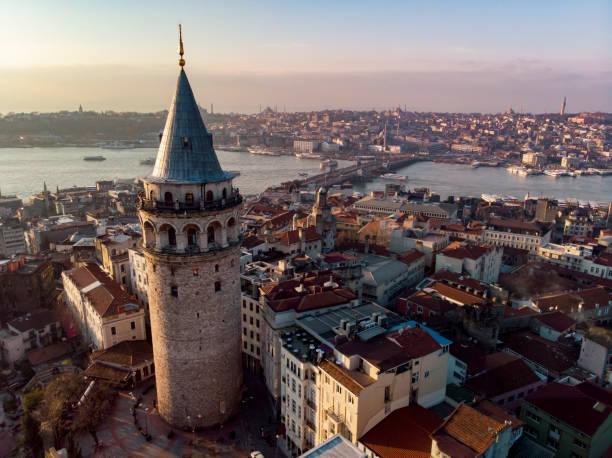 башня галата - стамбул стоковые фото и изображения