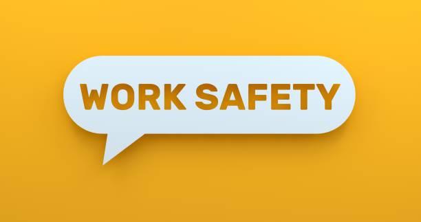 sécurité au travail - icône de ligne photos et images de collection