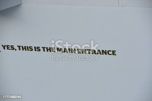 YES .IT IS THE MAIN ENTRANCE