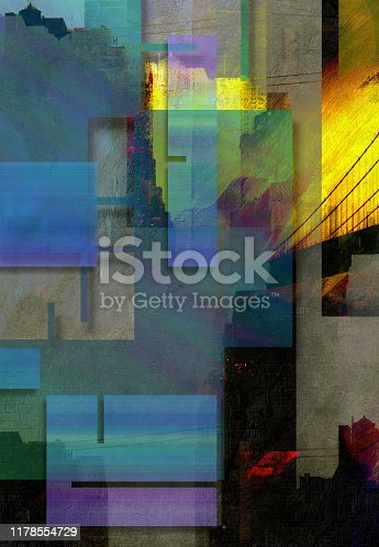 Modern Art. NYC. Inspired Geometric Design