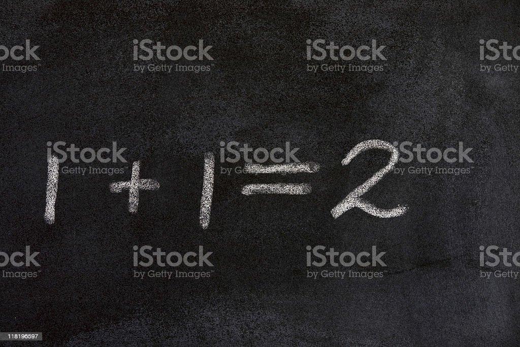 1+1=2 royalty-free stock photo