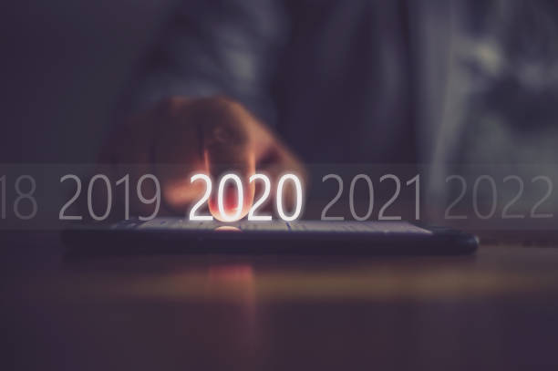 2020 - comemoração conceito imagens e fotografias de stock
