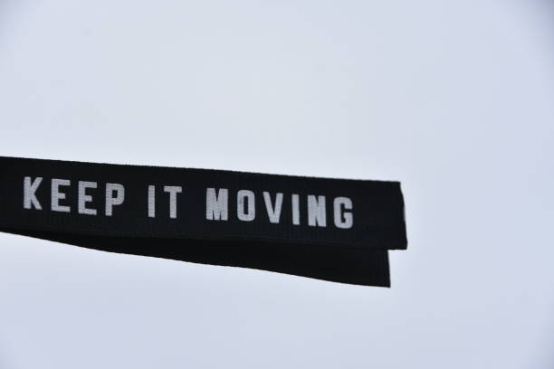 KEEP IT MOVING stock photo