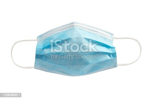Medical mask on white background.