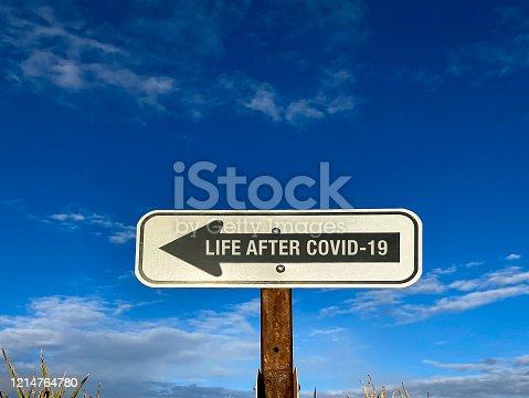 Life after COVID-19 sign
