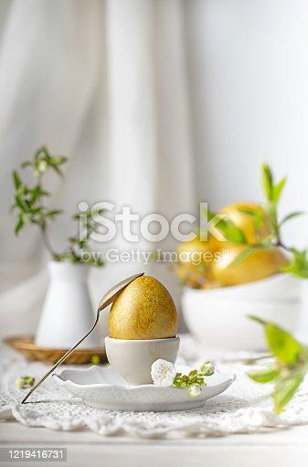 золотые яйца к празднику пасха