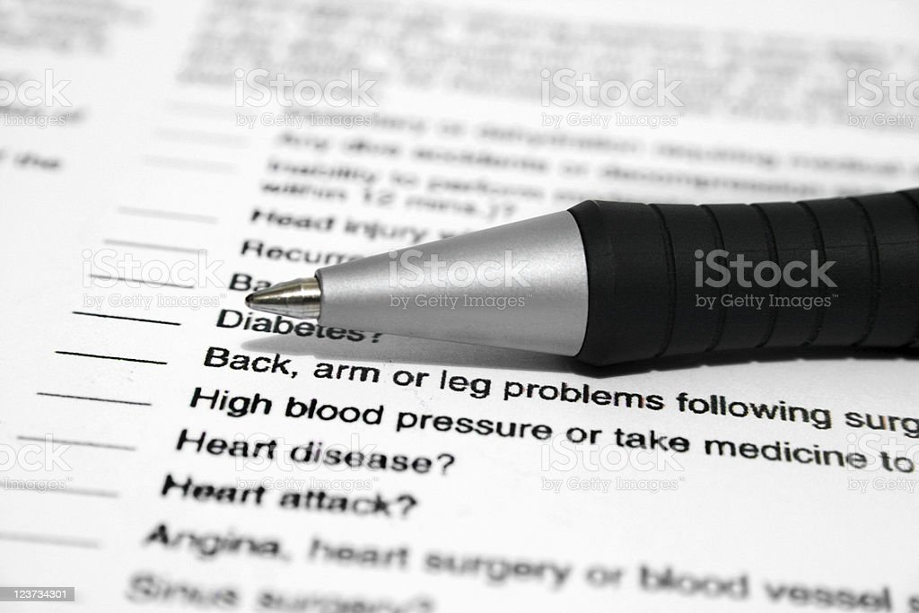 MEDICAL REPORT stock photo
