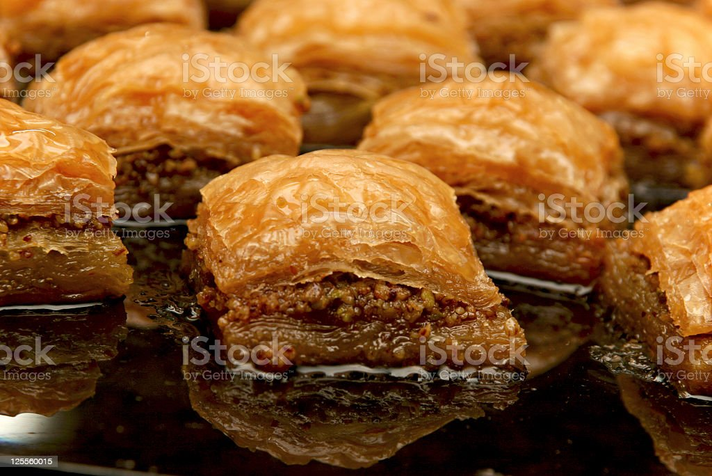 SWEET   BAKLAVA royalty-free stock photo