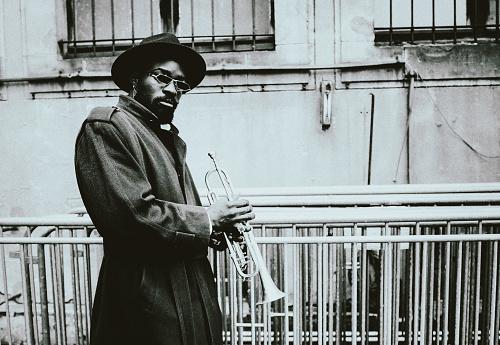 Trumpet, Player, dark, art, jazz, trumpet player, close-up, music, fun, backstage, passion, concert, retro style, city life,