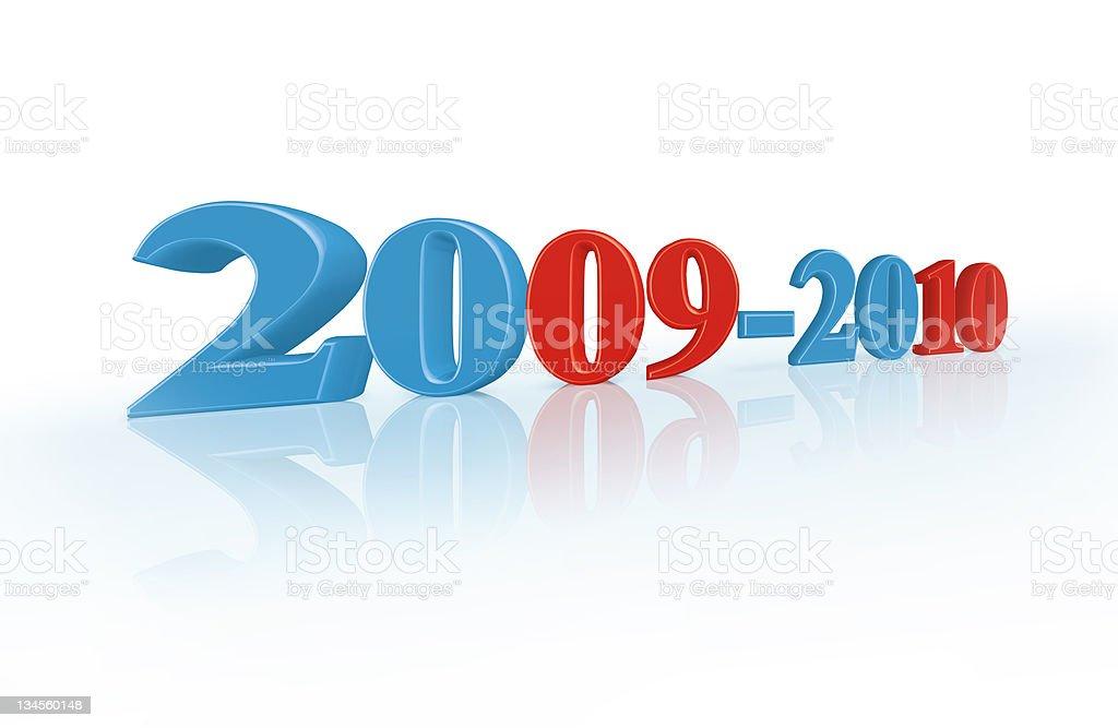 2009-2010 XXXL royalty-free stock photo