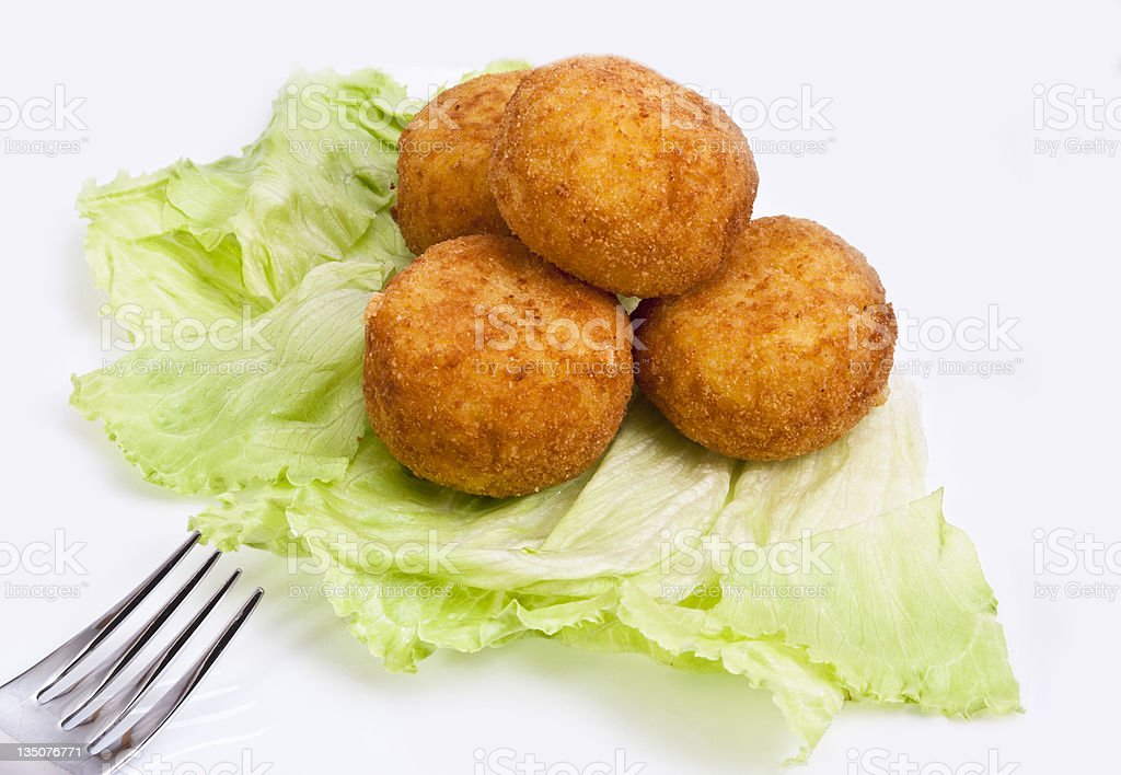 CROQUETTES RICE stock photo