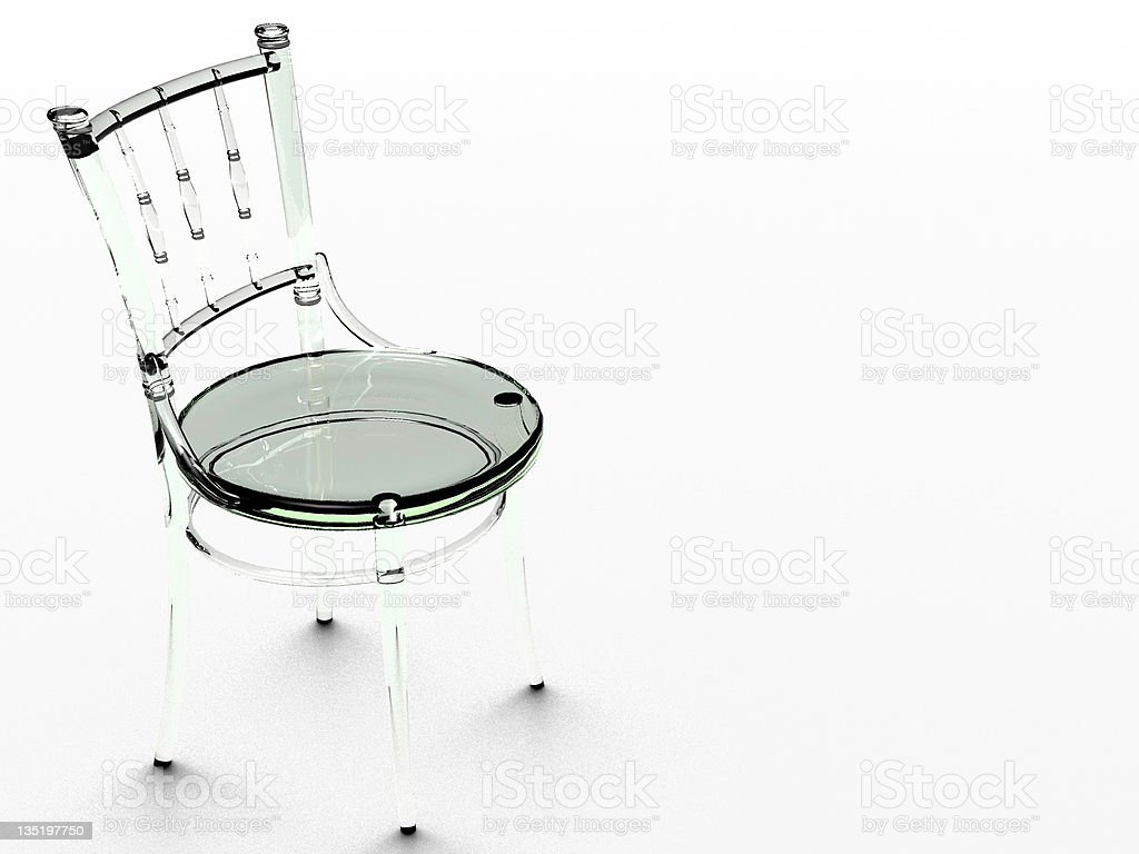 GLASS CHAIR royalty-free stock photo