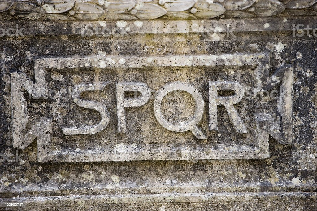 SPQR royalty-free stock photo