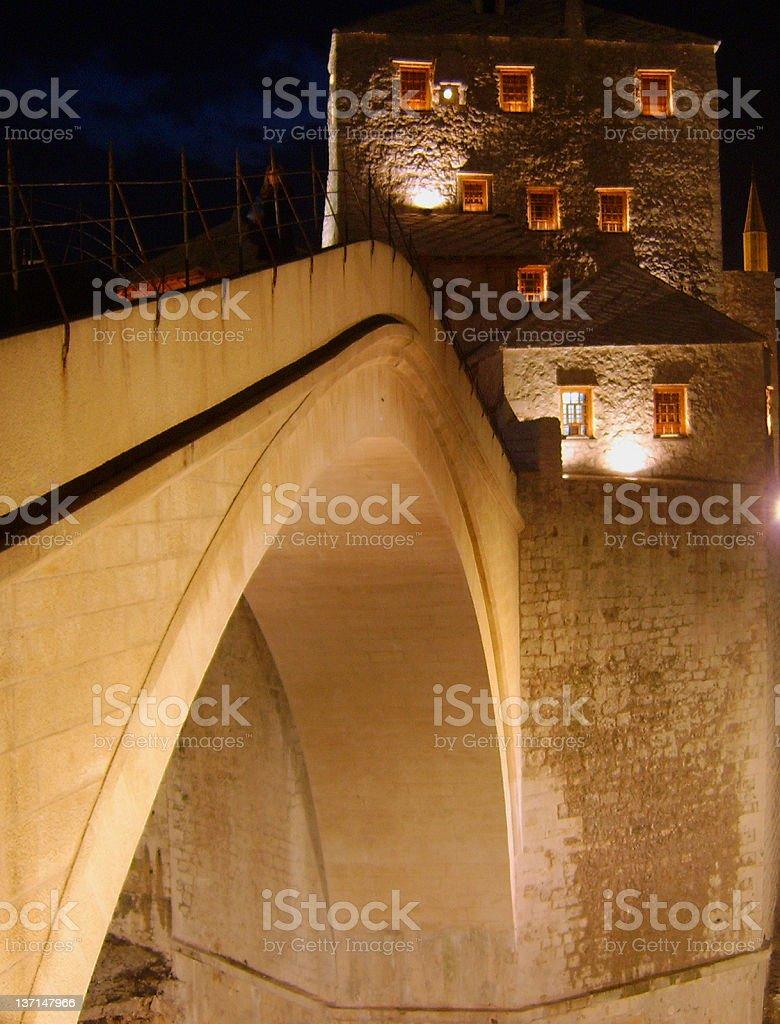 OLD TOWN STONE BRIDGE royalty-free stock photo