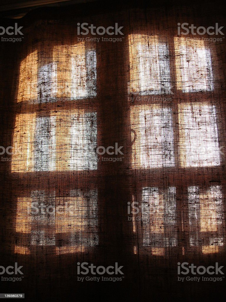 BEHIND THE CURTAINS royalty-free stock photo
