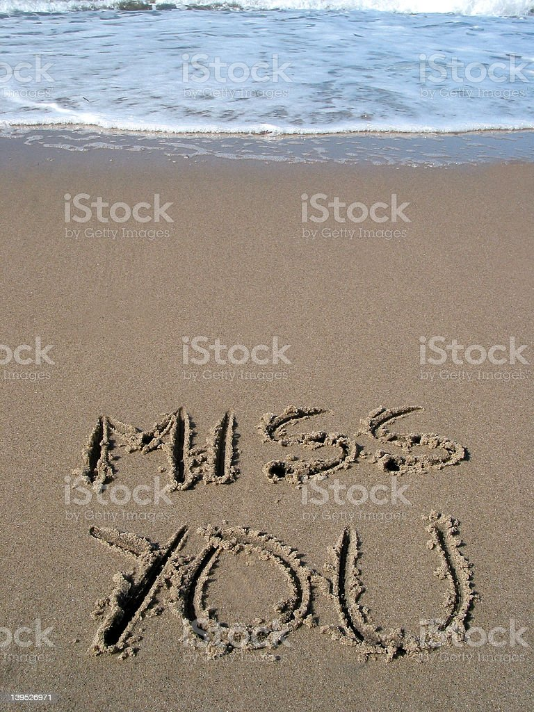 MISS YOU! royalty-free stock photo