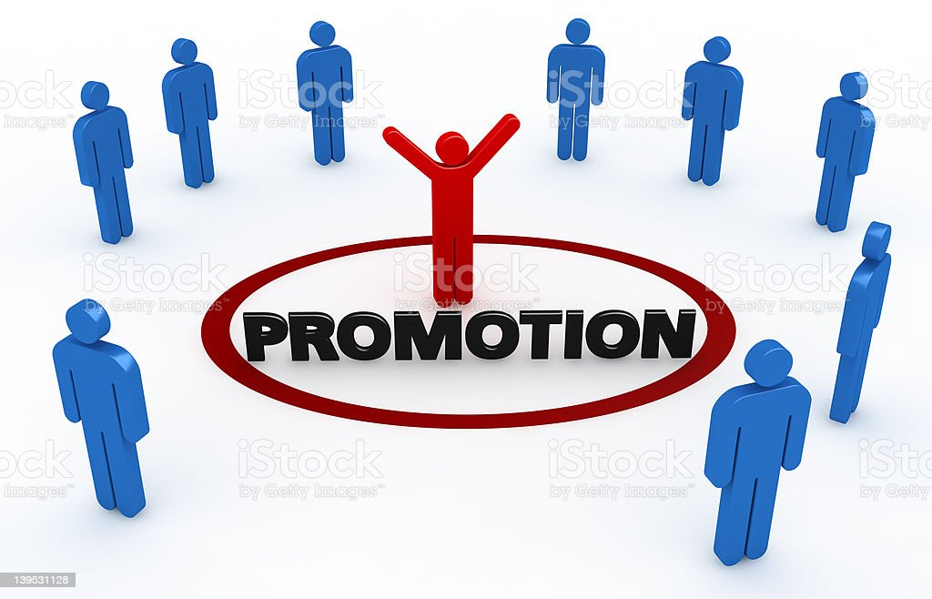 PROMOTION royalty-free stock photo