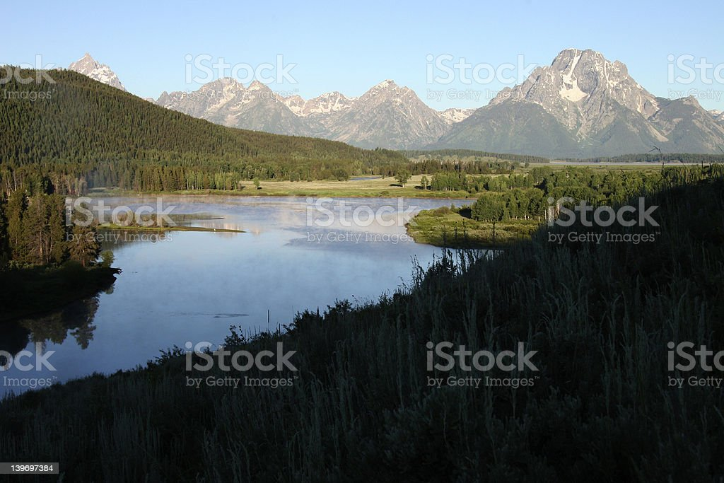 OXBOW BEND FROM LOZIER HILL stock photo